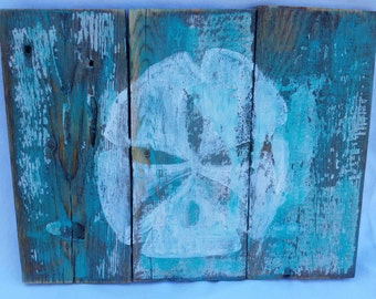 Small sand dollar pallet sign
