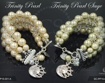 Trinity Pearl Bracelet by Carolina Smith Jewelry
