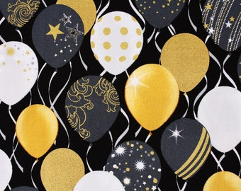 Balloons patterned Fabric, Celebrate Balloons, Kanvas for Benartex LLC Pattern by the Half Yard