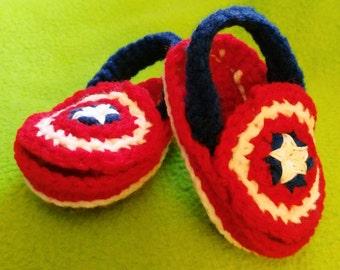 Captain America Baby Sandals