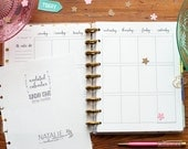 UNDATED CALENDAR Happy Planner Printed Inserts, Happy Planner Extra Weekly Calendar Page, Create 365 Planner Inserts, Vertical View Sunday