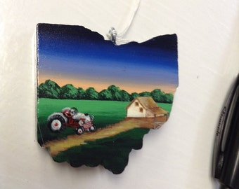 Farm scene ohio magnet