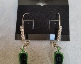 Seahawk colored charm earrings