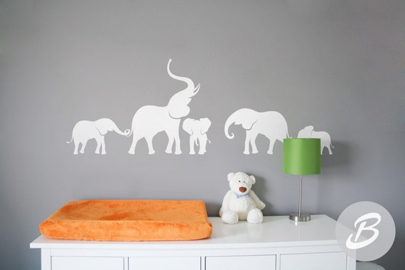 Elephant Wall Decal Nursery Wall Decal Large Wall Decor With - Elephant wall decals