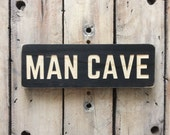 Man CAVE sign, carved wood sign, wooden sign, wood wall art, father, dad, den,bar, rustic, stained wood, cnc machine