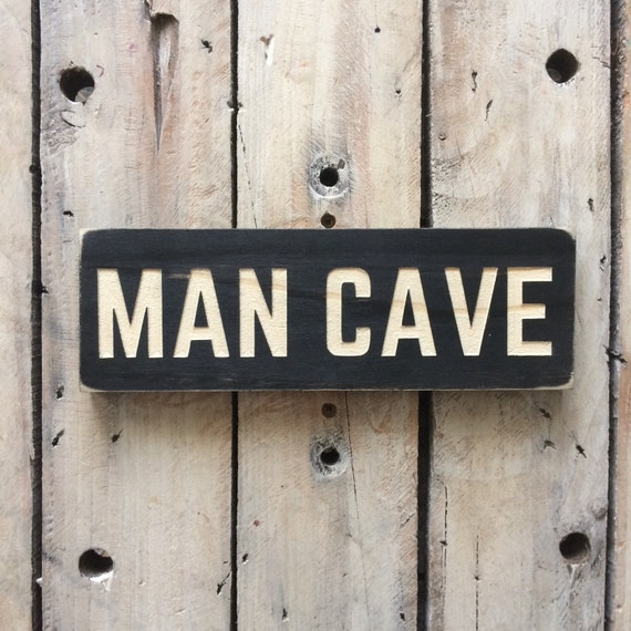 Man Cave Signs Canada : Man cave sign carved wood wooden wall art