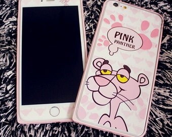 stick on Panther iphone 6/6s plus protector with matching bumper