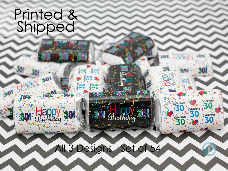 Happy 30th birthday party favor sticker decorations by for 30th birthday decoration packages