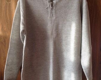 Linen Shirt Hand Knitted From Linen Thread