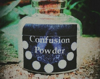 CONFUSION POWDER Ritual Spell Powder to Confuse Your Adversary - Spell Kit - Hexing - Courtcase - Witchcraft - Voodoo - Santeria - Wicca
