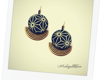 Japanese fabric original earrings