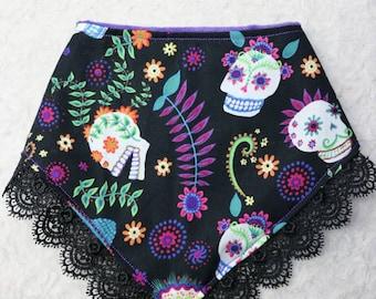 Day of the Dead/ Dia de los Muertos/ Skulls Bibdana