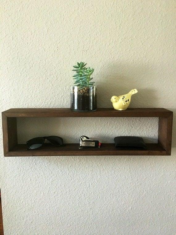 hanging shelf hanging wall shelf box shelf by knottynuffwood. Black Bedroom Furniture Sets. Home Design Ideas
