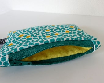 Green wallet with zipper