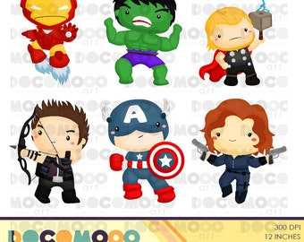 Buy 1 Get 1 !! Heroes Clipart / Digital Clip Art for Commercial and Personal Use / INSTANT DOWNLOAD
