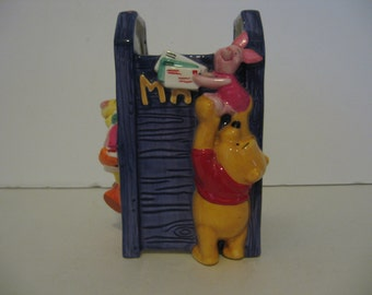 Winnie the Pooh & Tigger Too - Ceramic Mail Holder