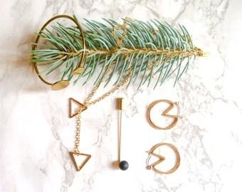 Earrings, jewelry ear minimalist, chic and elegant