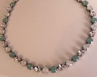 Pacific Opal Swarovski Crystal Necklace