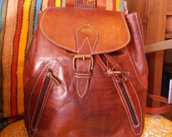 Skin zip backpack
