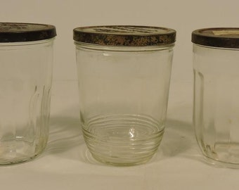 Jelly Jars with Metal Lids Small Glasses Set of 3
