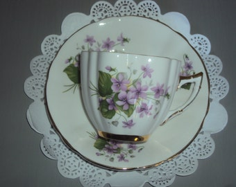 Vintage Floral Royal London Tea Cup and Saucer