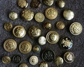 Vintage Gold Tone Buttons Variety