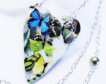 wings-  butterfly epoxy heart