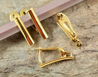 Luxury VERMEIL 24k gold plated Lever-back Ear Hooks Sterling Silver 925 eu made CHOOSE QUANTITY ( art.398V)