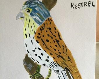 Acrylic kestel , hand painted and original
