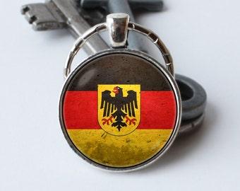 Flag of Germany keychain Flag key ring German jewelry German flag key chain Flag pendant Patriotic gift Germany keyring Unique birthday gift