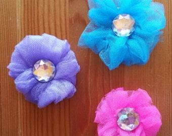 Tulle Flower Clip