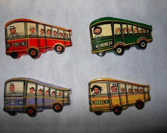 Indian Fridge magnets souvenirs memorabilia gift - Buses