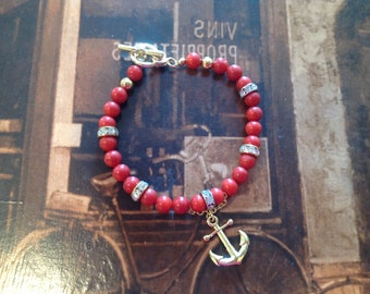 Bamboo coral (dyed) bracelet