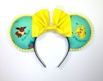 Gotta Catch Them All Green Character Mouse Ears