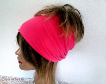 Pink Headband, Cotton Headband, Boho Scarf, Headband, Bandana Band, Yoga Band, Women's Accessories, Hair Wrap, !!! FREE SHIPPING !!!