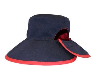 Ponytail Hat | Berry/Navy | Cotton | Reversible and Adjustible