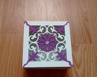 Hand painted keepsake box