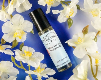 BLUE JASMINE Perfume Oil / Floral / Natural / Aromatherapy / Sensual Scent / Scented Oils / Cologne / Gifts for Women Under 10 / Body Oil