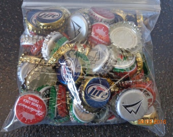 almost 1lb  approx 175 Assorted imperfect Beer caps