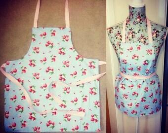 Childrens girls strawberry apron one size