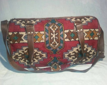 Leather Western Travel Bag