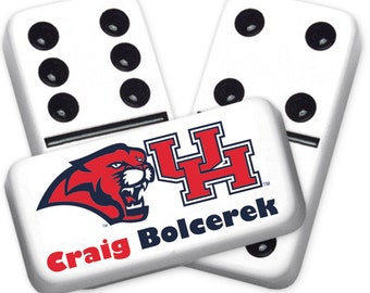 Houston Cougars Custom Personalized Licensed Dominoes Set