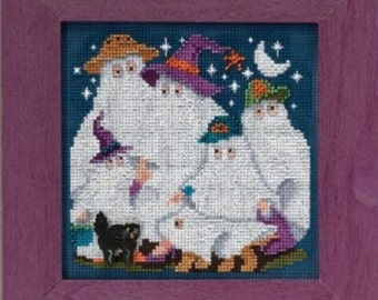 Mill Hill Button & Beads Cross Stitch Kit GHOST FAMILY