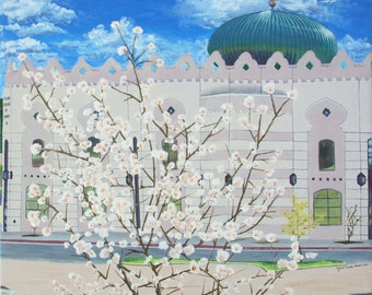 Fine Art Print Greeting Card - The Islamic Center of Irving - Eid