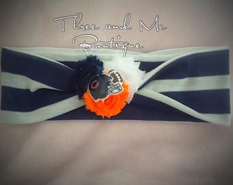 Chicago Bears Headband Wrap; Football Wrap; Headband Turban