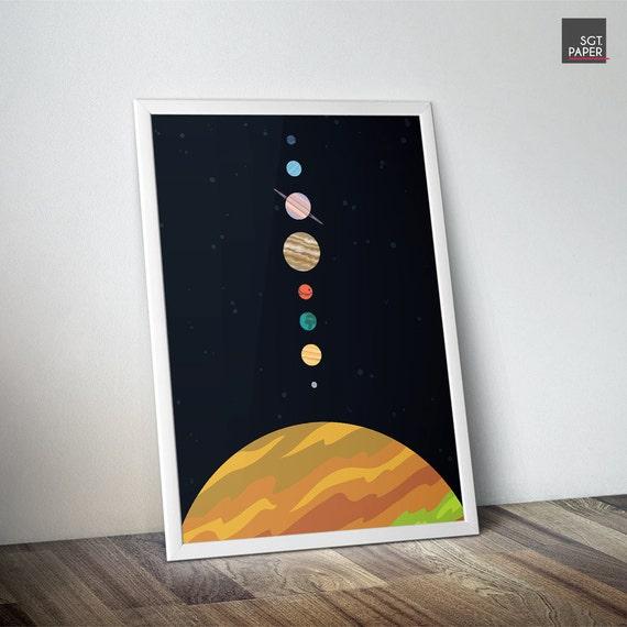 Raum dekor sonnensystem raum kunst kinderzimmer von sargentpaper