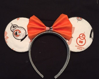 BB8 themed Mickey ears, Minnie ears are back!  Star wars