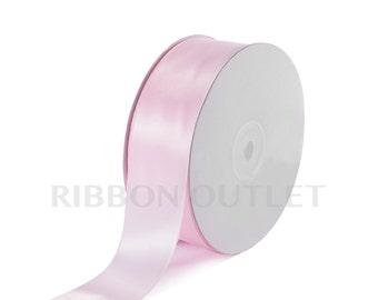 "1 1/2"" Light Pink Satin Ribbon 50 Yards Per Roll"