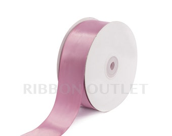 "1 1/2"" Rosy Mauve Satin Ribbon 50 Yards Per Roll"