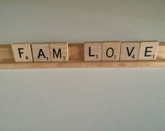 "Vintage Scrabble Tiles ""Fam Love"""